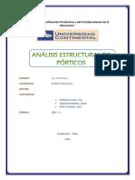 Analisis de Porticos Informe