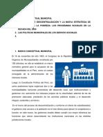 Peru- Politicas Municipales de Servicio Sociales