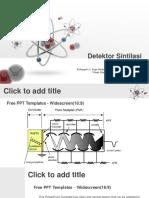 3D Atom Model PowerPoint Templates Widescreen