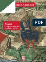 Giorgio Agamben - Stasis. La Guerra Civil Como Paradigma Político