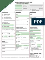 Pulsation dampener questionnaire