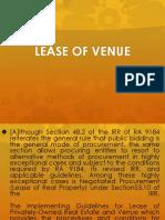 lease of venue