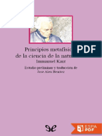 Principios Metafisicos de La Ci - Immanuel Kant