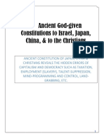 Ancient God-given Constitutions to Israel, Japan, China, & to the Christians - UPDATED 11-22-2018
