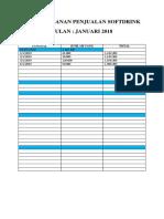 Rekap Bulanan Penjualan Softdrink Jan 2019