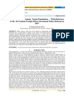 Interdependency Among Target Populations – With Reference to the Sri Lankan Foreign Direct Investment Policy Reforms in 2017