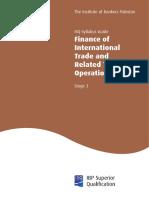 Finance of International Trade Stage 3