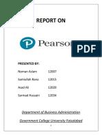 Pearson Report (Strategic Management)