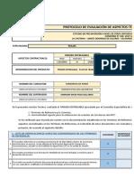 Ficha de Revision - Peajes