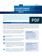 The Military Planning and Conduct Capability