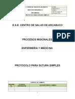 Protocolo Suturas y