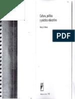 Giroux_Cultura, política y práctica educativa