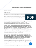 How Prophet Muhammad Resolved Disputes About Islam