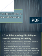 The Basic Terms in Special Education