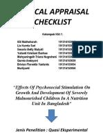 Critical Appraisal Checklist Ppt - Copy