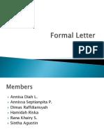 Formal Letter Edit