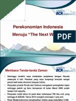 Perekonomian Indonesia menuju Next Wave