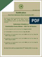 PIPFA Exemption Schedule Notification