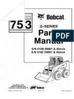 Bobcat 753 G Series Skid Steer Loader Parts Catalogue Manual G Series Sn516220001 And Above Pdf Screw Land Vehicles