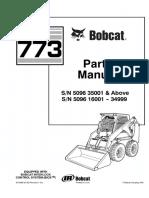 Bobcat 773 F Series Skid Steer Loader Parts Catalogue Manual (SN 5096 16001 - 34999).pdf