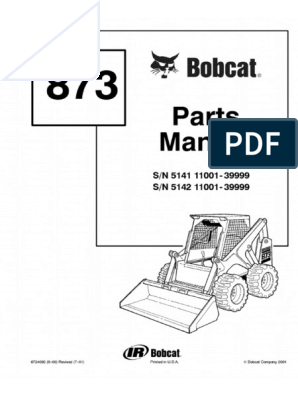 Details about Bobcat Operation & Maintenance Manual 873 S