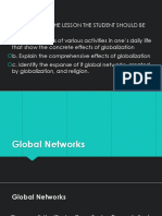 Global Networks - Trends, Networks and Critical THinking