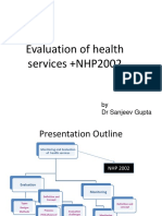 Evaluation of Health Services