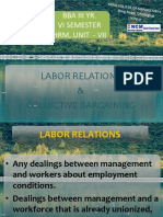 Labor Relations, Unit-7 HRM
