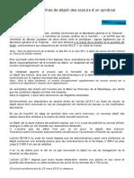 Formalités dépôt statuts syndicat UNSA