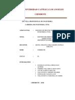 GESTION Investigacion Formativa