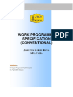 Section 33 - Work Programme Specification (Conventional)
