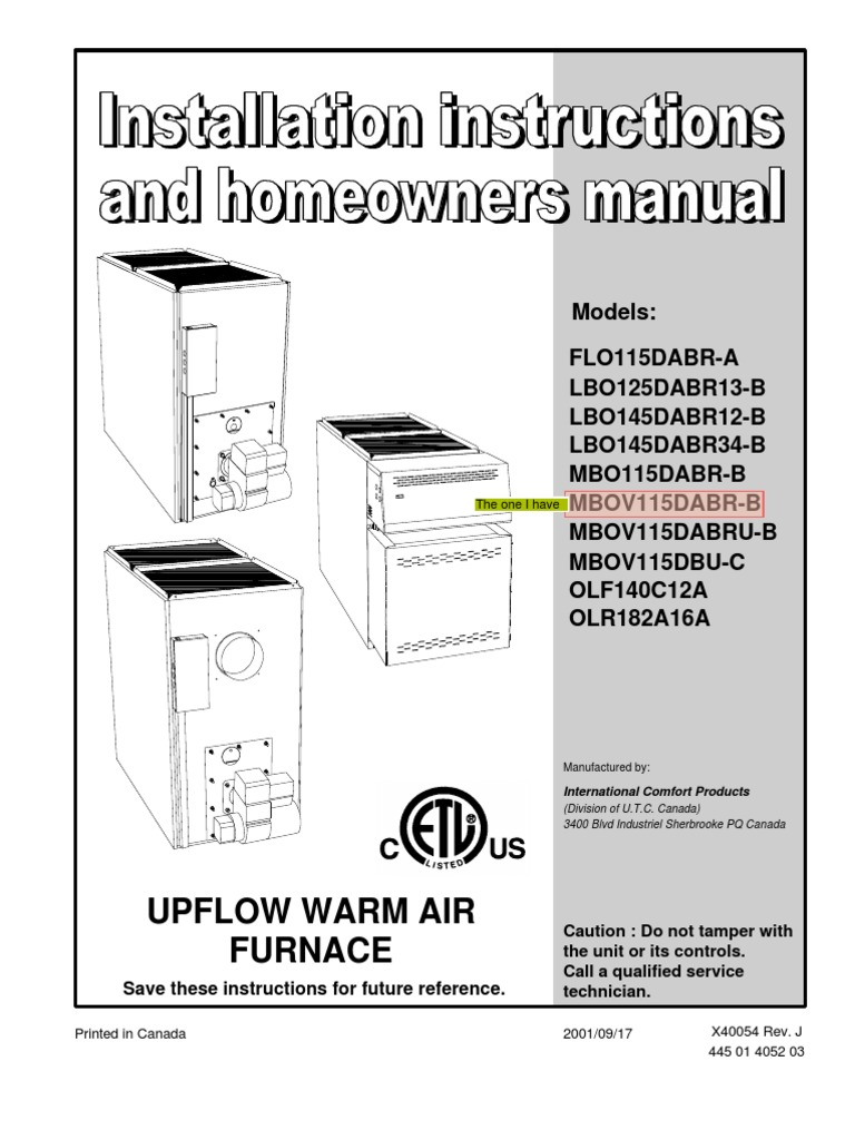 furnace user guide