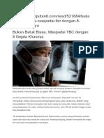 Gejala Penyakit TBC