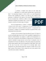 International Disputes Written Report
