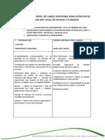 Requerimiento y Perfil de Cargo Disponible Para Dotacion de Programa Red Local de Apoyos y Cuidados
