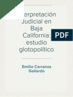 Política lingüística de la interpretación Judicial en Baja California