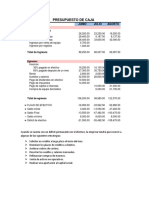 Presupuesto de Caja Tarea 1