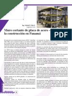 Muro Cortante de Placa de Acero - Aplicacion a La Construccion en Panamá