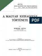 Horger Antal - A magyar igeragozás története
