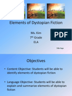 elements of dystopian fiction