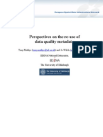 Perspectives on the re-use of data quality metadata