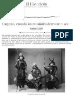 Cagayán, Cuando Los Españoles Derrotaron a Los Samuráis
