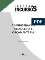 AFO - Administração Financeira e Orçamentária 2008