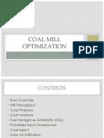 Coal Mill Optimization