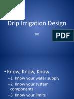 Drip Irrigation Design