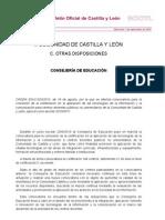 ORDEN EDU/1203/2010 certificación aplicación TIC