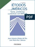 Métodos Numéricos, 4ta Edición - Juan Antonio Infante Del Río