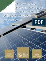 Financiacion e Inversion en Energias Renovables DIC16