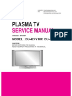 LG DU-42PY10X Plasma TV Service Manual