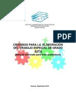 Criterios Para Elaboración Del Trabajo Especial de Grado Sept 2012 (Version PDF)